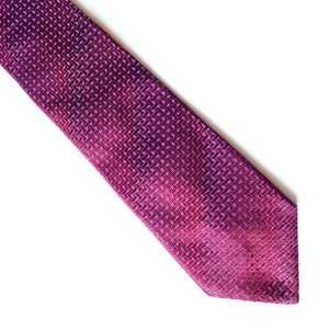 Express Red and Purple Patterned Tie